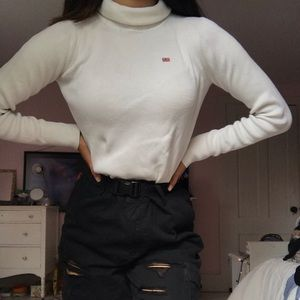 white Ralph lauren turtle neck